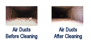 air ducts before and after cleaning